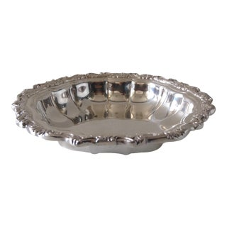 Silver Plate Scalloped Nut Dish For Sale