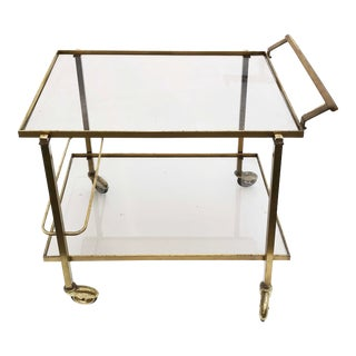 1960s Mid-Century Modern Maison Jansen Bar Cart For Sale