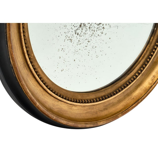 Black Louis XVI Period French Round Mirror For Sale - Image 8 of 10