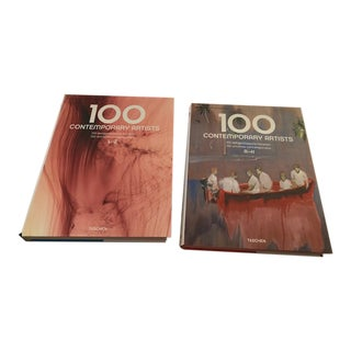 Taschen 100 Contemporary Artists Coffee Table Books - a Pair For Sale