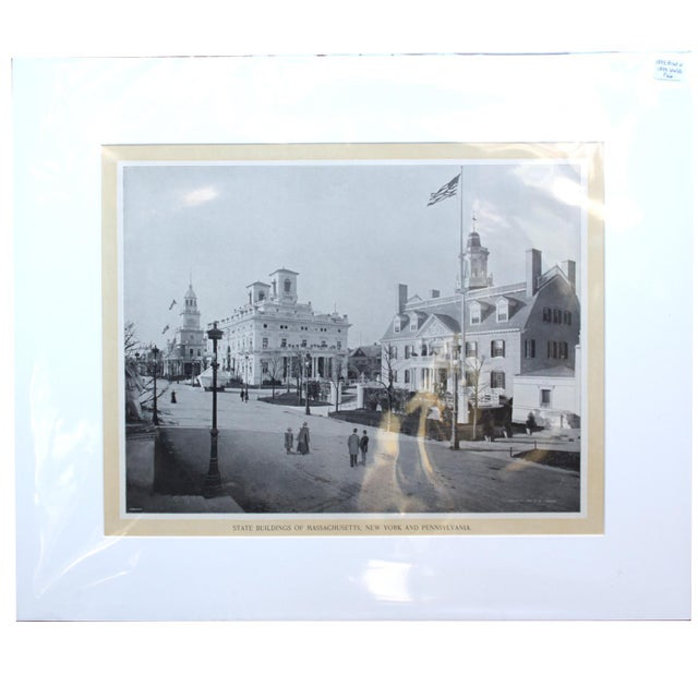 1895 World's Fair Print (State Buildings of Mass, NY, Penn) For Sale - Image 5 of 5