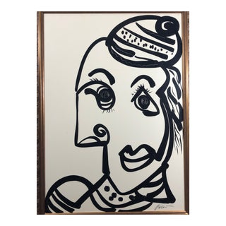 """Peter Keil """"Picasso Face"""" Contemporary Painting For Sale"""