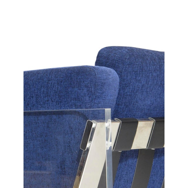 Milo Baughman for Thayer Coggin Lucite Chrome Lounge Chair For Sale In San Francisco - Image 6 of 8