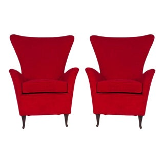 Italian 1950s Armchairs - a Pair For Sale