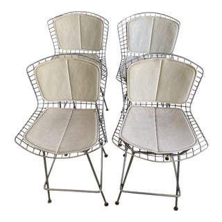 1950s Vintage Bertoia Counter Stool-Set Of 4 For Sale
