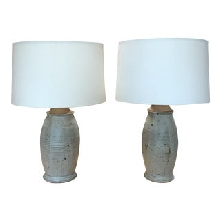 Vintage Ceramic Lamps - a Pair For Sale