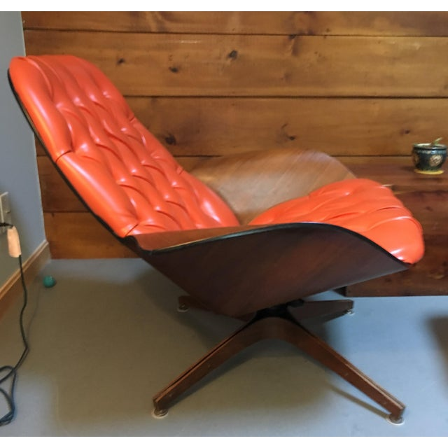 Mid-Century Modern 1960's PlyCraft Lounge Chair & Ottoman For Sale - Image 3 of 10