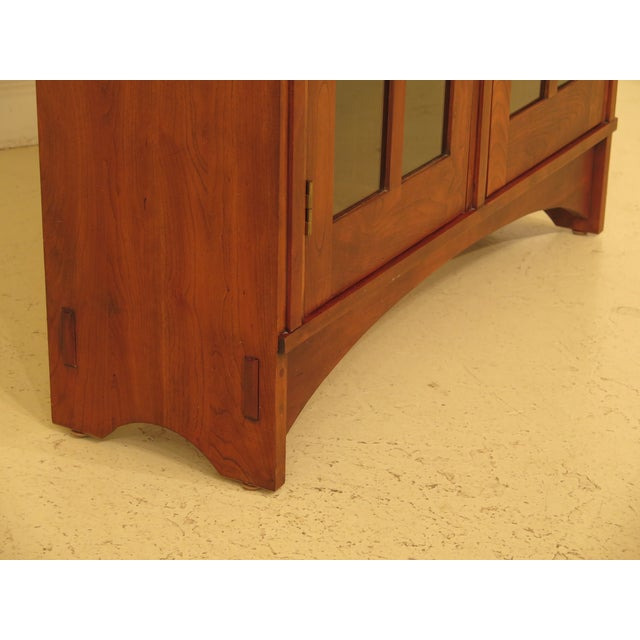 1980s Arts & Crafts Stickley Cherry Bookcase For Sale In Philadelphia - Image 6 of 13