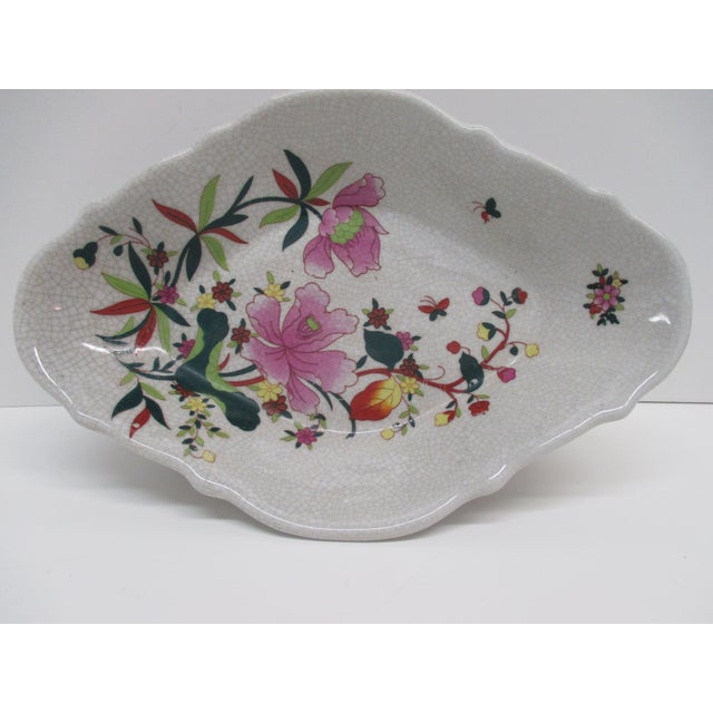 1990s Chinese Export Ceramic Catchall Decorative Dish For Sale - Image 5 of 6
