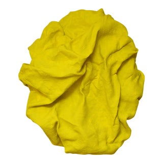 Electric Yellow Folds by Chloe Hedden For Sale