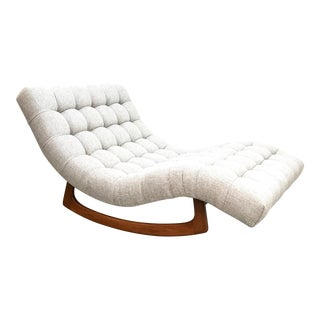 1970s Vintage Adrian Pearsall Rocking Chaise by Craft Assoc. For Sale