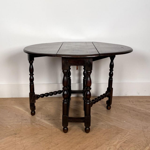 Vintage English Drop Leaf Table For Sale In San Francisco - Image 6 of 7