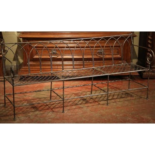 Polished Iron French Empire Style Three-Seat Bench Preview