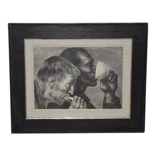 "Joseph Hirsch (American, 1910-1981) ""Banquet"" Original Pencil Signed Lithograph C.1945 For Sale"