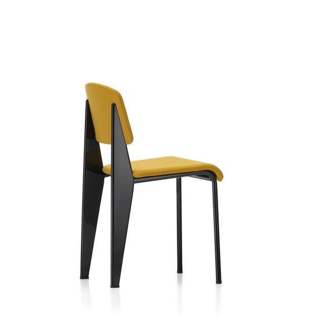 Not Yet Made - Made To Order Vitra Standard SR Chair in Canola and Deep Black by Jean Prouvé For Sale - Image 5 of 9