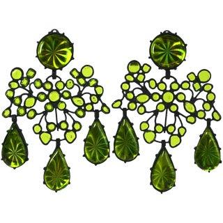 3d Girandole Earrings, Mwlc For Sale