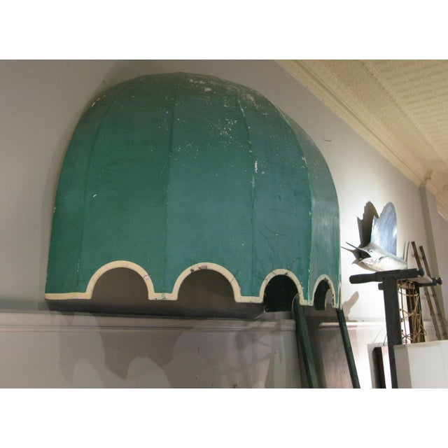Hollywood Regency Vintage Fiberglass Canopy Awning For Sale - Image 3 of 6