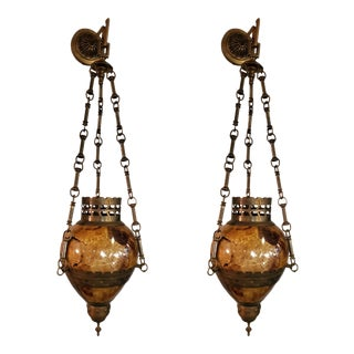 Maitland Smith Pen Shell Wall Pendants - a Pair For Sale