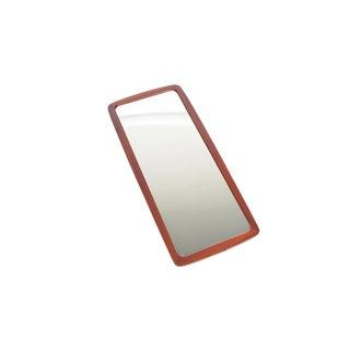 Danish Modern Bow Edge Teak Mirror by Johansen's Spejle For Sale