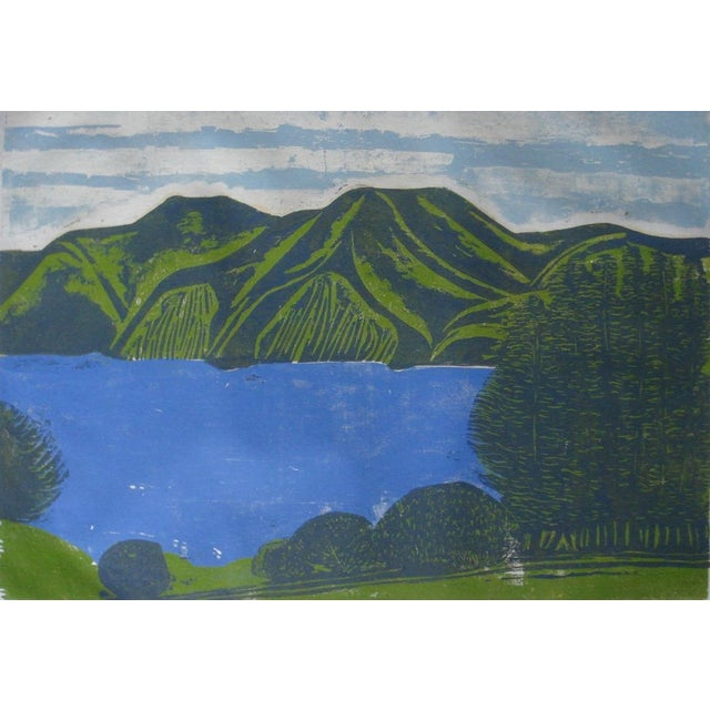 """""""South Bay"""" Woodblock by William Wolff - Image 1 of 4"""