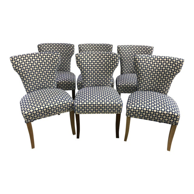 Transitional Dining Room Side Chairs - Set of 6 For Sale