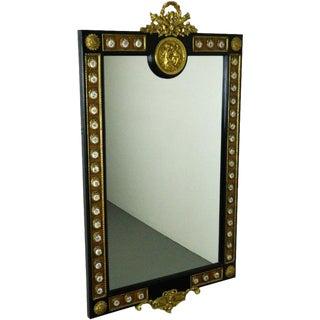 French Style Ormolu Cherub Wall Mirror
