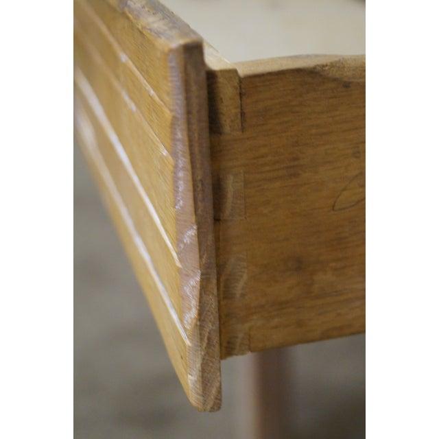 Brandt Ranch Oak Rustic Southwest Style Writing Desk (A) - Image 6 of 10