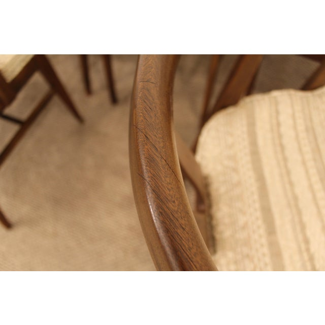 Curved-Back Walnut Dining Chairs - Set of 6 - Image 7 of 11