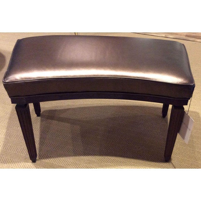 Hickory Chair Rembrandt Curved Bench For Sale - Image 5 of 7