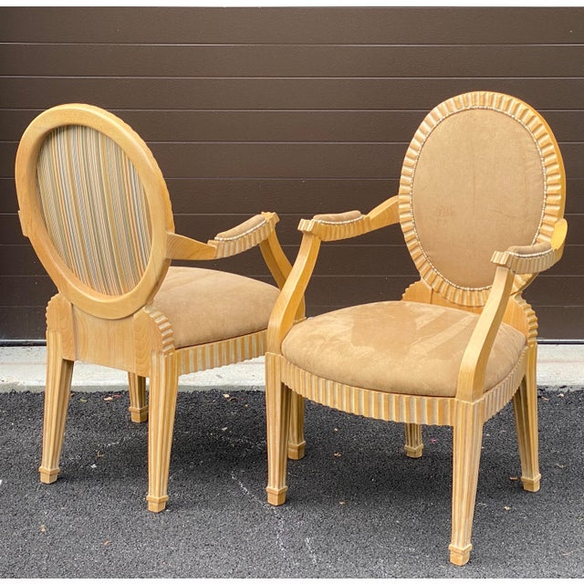 1980s John Hutton for Donghia Style Soleil Armchair - a Pair For Sale - Image 13 of 13