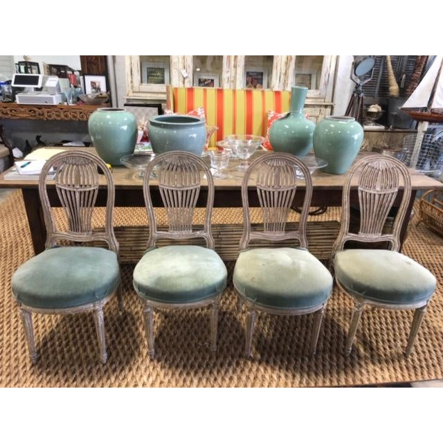 Maison Jansen Early 20th Century Antique French Maison Jensen Balloon Chairs- Set of 4 For Sale - Image 4 of 11