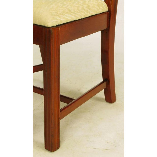 Six Ribbon Back Chippendale Dining Chairs - Image 9 of 10