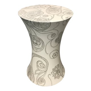 Contemporary Candice Olsen Cool Paisley Side Table For Sale