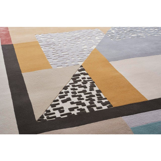 Early 21st Century Schumacher Patterson Flynn Martin Ratio Hand-Tufted Wool Silk Rug - 9' X 12' For Sale In New York - Image 6 of 9