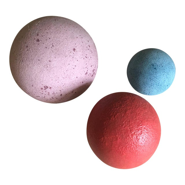 Artist Made Post Modern Sphere Trio - Set of 3 For Sale