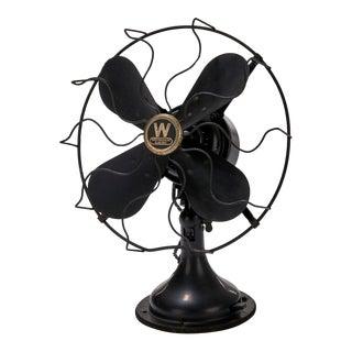 Vintage Westinghouse Industrial Design Oscillating Electric Fan For Sale