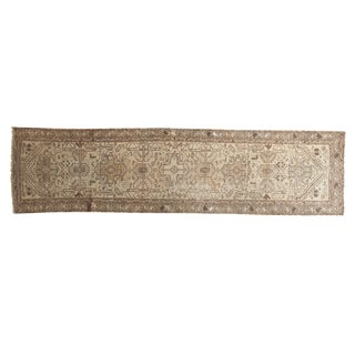 "Vintage Distressed Hamadan Rug Runner - 2'5"" X 9'5"""