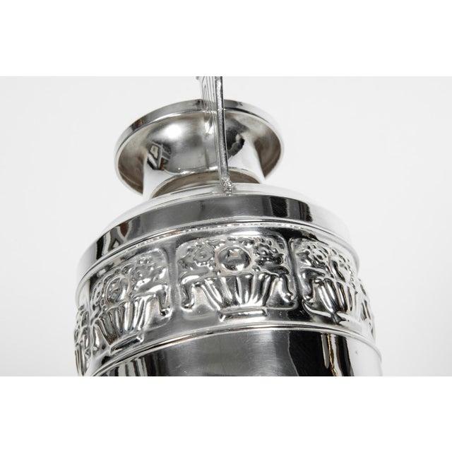 1930s Vintage Art Deco Silver Plate Piece / Vase For Sale - Image 5 of 9