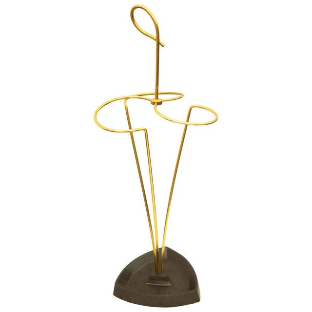 Austrian brass umbrella stand For Sale - Image 6 of 6