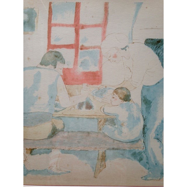 Pablo Picasso Family at Supper Lithograph - Image 3 of 5