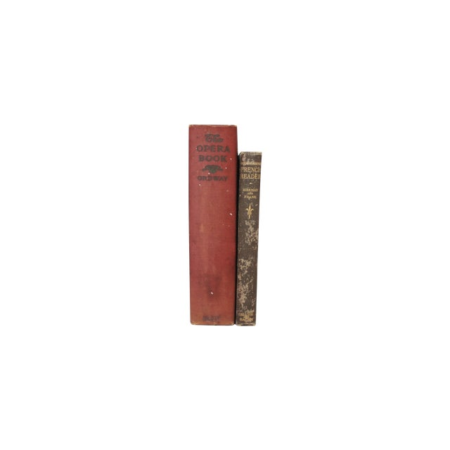 Antique Burgundy Books - A Pair - Image 1 of 9