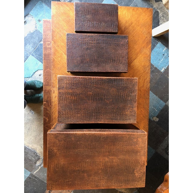 Antique Crocodile Nesting Boxes - Set of 4 For Sale - Image 11 of 13