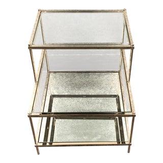 West Elm Terrace Glass & Chrome Side Table