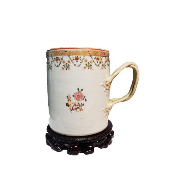 Ceramic 18th C Chinese ExportPorcelain Tankard Mug For Sale - Image 7 of 7