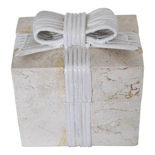 1970s Vintage Renoir Design Tessellated Stone Box For Sale