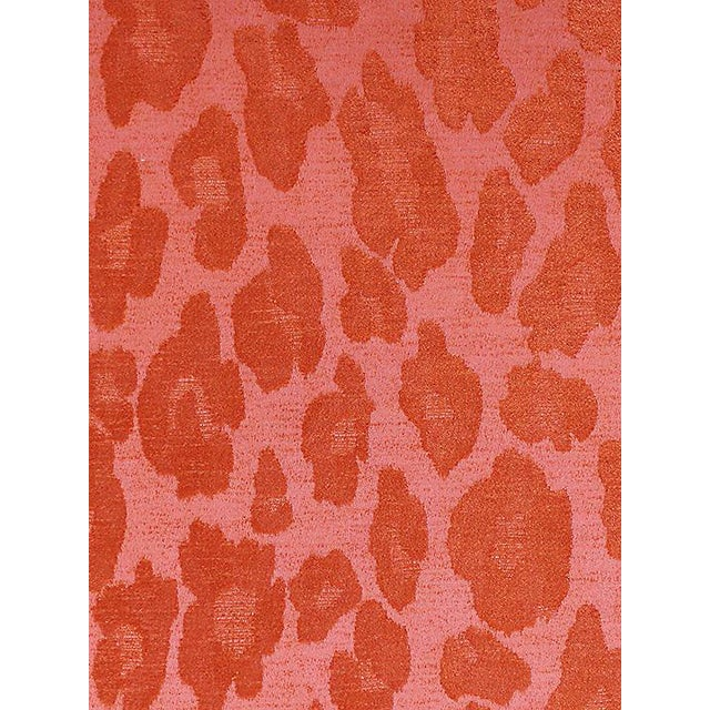 Sample, Scalamandre Chita, Tangerine Fabric For Sale