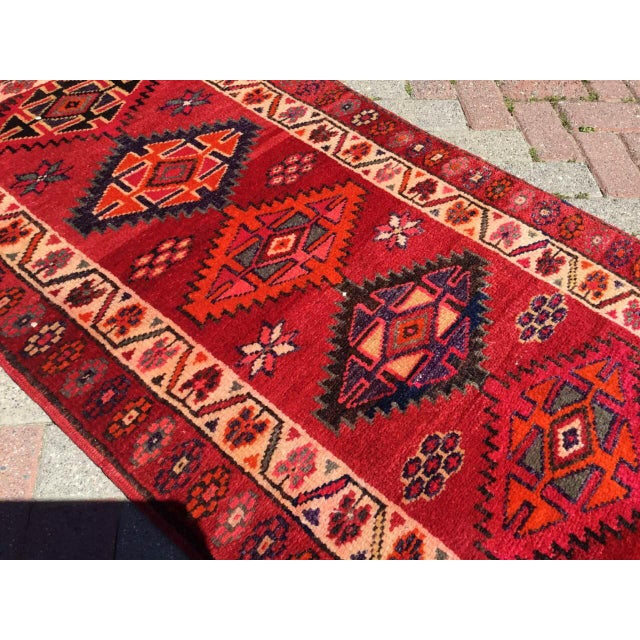 Vintage Hand Knotted Turkish Runner For Sale - Image 5 of 9