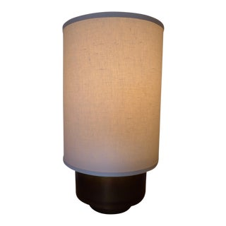 Modern Brass Table Lamp with Linen Shade