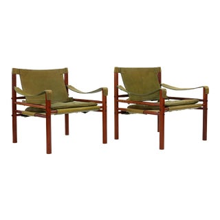 1970s Vintage Arne Norell Sirocco Armchairs- A Pair For Sale