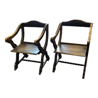 Late 19th Century Vintage Swedish Chairs- a Pair For Sale